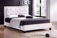 Queen size new modern bed frame brown or white