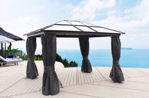 Gazebo 10x12 Aluminum! Toit Rigide! NEW