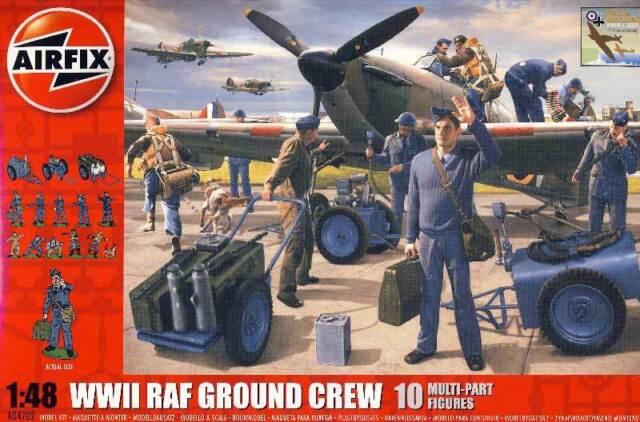 Airfix WWII RAF Ground Crew Bodenpersonal Flugfeld Equipment 1:48 Ausrütung TIPP