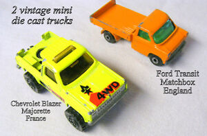 Vintage MINI-trucks, Chev Ranger and Ford Transit, $10 each