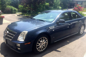 BLUE 2009 CADILLAC STS 4dr Sdn V6 ALL WHEEL DRIVE *Nav*Roof