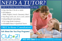 In-Home Tutoring, 1-on-1  Math, Science, French, English, & More