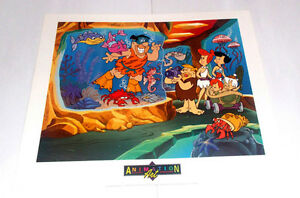 THE FLINTSTONES ART PRINT POSTER FROM 1993