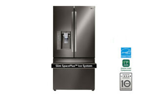 "LG 36"" Black Stainless Steel Counter Depth Refrigerator"