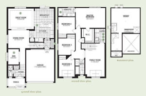 Brand new 4 bed house in Cambridge, 3 mins to 401, Available now