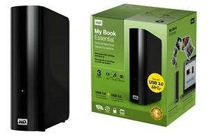 WD 3TB My Book Essential External Hard Drive USB 3.0 + 2.0