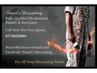 Fully qualified professional painter and decorator