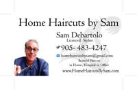 hairstylist barber for in home haircuts on call $35 to $50 a cut