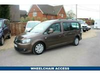 2012 62 VOLKSWAGEN CADDY MAXI 1.6 C20 LIFE TDI 5D 101 BHP WITH WHEELCHAIR ACCES