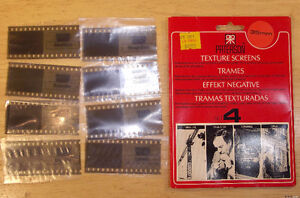 8 Trames (texture screens) Paterson 35mm