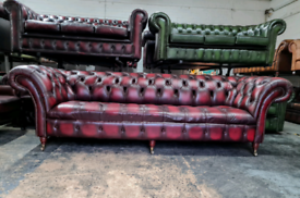 Oxblood Chesterfield Large 4 Seater Sofa