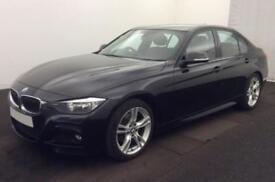 2013 BLACK BMW 320D 2.0 M SPORT DIESEL AUTO 4DR SALOON CAR FINANCE FR £46 PW