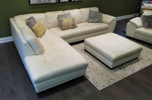 Leather Sectional, Chair and Ottoman (MUST SEE!)
