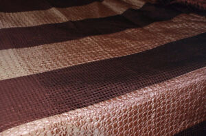 Quilt Bedspread Queen, Brown Tonal STRIPE, NEW