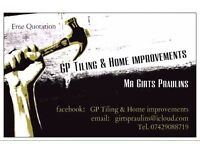 GP home improvements , tiling , drywall construction, decorating, bathroom and house refurbs .