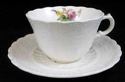 Spode HEATH AND ROSE JEWEL SHAPE Cup & Saucer GREAT CONDITION APPEARS UNUSED
