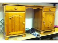 Solid pine desk dressing table