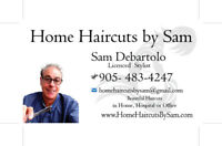 hairstylist barber on call for in home customers $35 to $45 cut