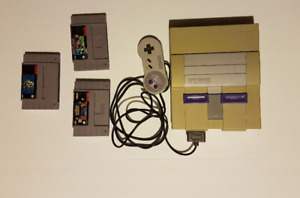 Super Nintendo System with 3 games