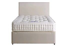 New Channel cream fabric material double bed