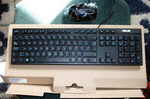 Bilingual Keyboard and Wheel Mouse
