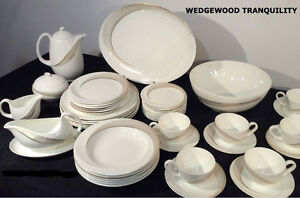 Full set of Wedgewood Tranquility Pattern Bone China