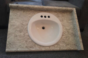 3 foot Bathroom Vanity Top with Sink