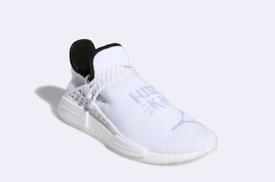 Adidas Originals x Pharrell Williams Hu NMD Size: 10 white