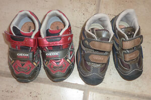 2 pairs of GEOX sneakers, toddler size 5.5, worn once, $ 15/pair