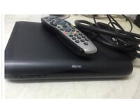 SKY HD BOX NEARLY LIKE NEW WITH , REMOTE CONTROL,POWER CABLE, WITH HDMI CABLE FOR SALE