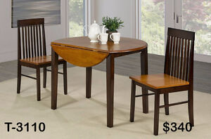 DROP LEAF DINETTE SETS - NO TAX