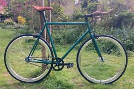 Green single speed Fixed gear road bike hybrid bicycle 210.