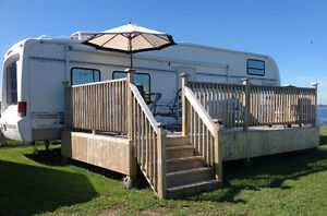 Beautiful Beachfront 5th Wheel trailer for rent