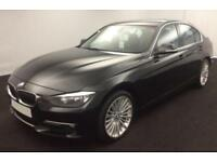 2014 BLACK BMW 320D 2.0 X DRIVE LUXURY DIESEL MANUAL SALOON CAR FINANCE FR 41 PW