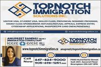 FOR ALL YOUR IMMIGRATION NEEDS CALL 6478245614