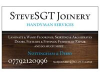 Joinery and handyman services, covering Nottingham and Derby, handy man