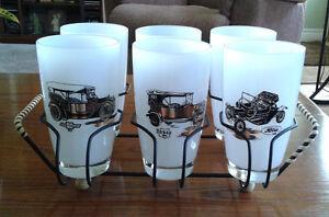 Set of Vintage Glasses in Stand - (One missing) Stratford Kitchener Area image 1