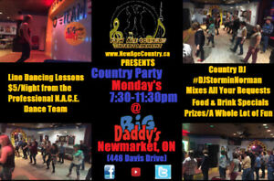 NACE Present's: Country Monday's - Line Dancing @ Big Daddy'