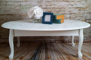 Hand Painted Coffee Table and 2 End/Night Tables