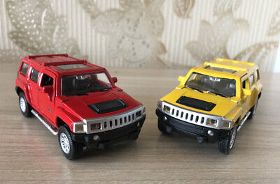 CAIPO 1:43 Hummer H3 SUV Alloy Car Model Pull Back Vehicles Kids Toy ](Kids Toy Cars)