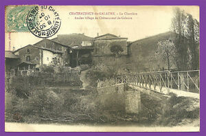 CPA-26-Chateauneuf-de-GALAURE-La-Charriere-muy-raro