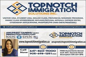 TOPNOTCH IMMIGRATION SOLUTIONS INC.  Kitchener / Waterloo Kitchener Area image 1