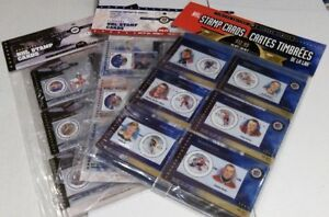 2000 & 2001 & 2002 CANADA POST NHL STAMP CARDS - SALE 60%