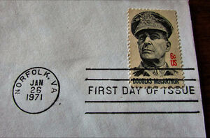 1971 GENERAL DOUGLAS MacARTHUR 6 Cent First Day Cover Kitchener / Waterloo Kitchener Area image 4