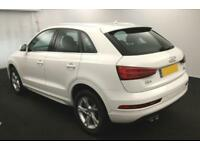 2015 WHITE AUDI Q3 2.0 TDI 184 QUATTRO SE DIESEL MANUAL CAR FINANCE FROM 67 PW