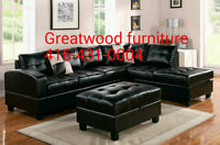 BRAND NEW SECTIONAL SOFA WITH STORAGE OTTOMAN