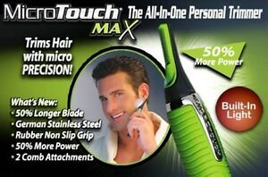 Micro-Touch-MAX-Personal-Hair-Trimmer-Groomer-Nose-Ear-Eyebrowns-Remover-NEW
