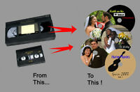Convert Wedding Videos (VHS, 8mm, etc.) to DVD or Elect. File