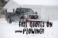 FREE QUOTES ON SNOW PLOWING !! ITS NEVER TOO EARLY!  CONTRACTS &