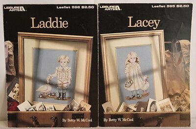 LACEY LADDIE Crossstitch Patterns By Betty McCool Leisure Arts 1988 - $13.99